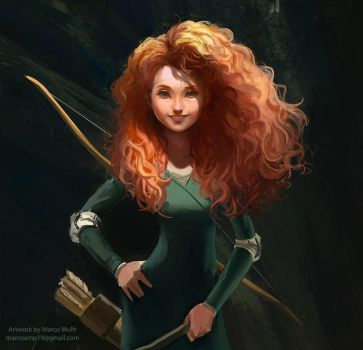 Princess Merida Fanart by MarcoWulfr