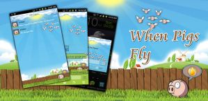 When Pigs Fly Android Go SMS Theme by Jekmyster