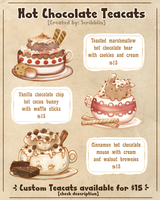 Hot Chocolate Teacats .Adoptables. [closed] by scribblin