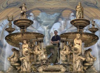 Michael in the Court of a Thousand Waterfalls by taisteng