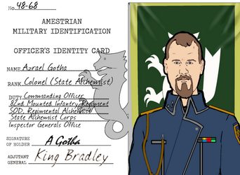 Colonel Gotha Military ID Card by docwinter