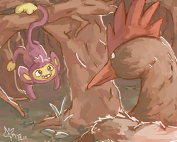 Aipom and Fearow