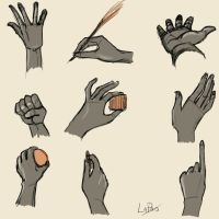doodles...hands by lapaowan
