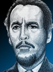 Christopher Lee in The Devil Rides Out by monsterartist