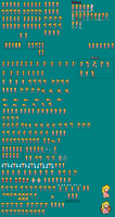 Princess Peach Sports Outfit Sprite Sheet by Atzura-Chan