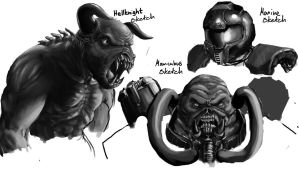 Doom sketches by Agent-Chris