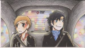 Sherlock and john - cab by ABD-illustrates