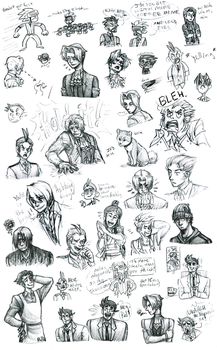 Art Attorney- Turnabout Sketch Dump by theanimemaster2
