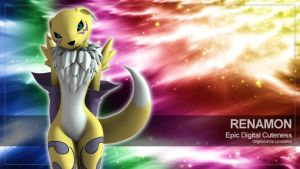 Renamon Wallpaper by lycanarius