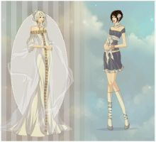 Dress Up - Xyndral and Lillith by WinterFlightDesign