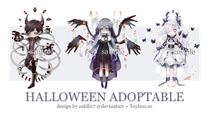 (Close) Halloween Adoptable Auction ! by zakili17