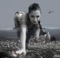 Giantess Slave Leia - This City Is Mine !!! by GiantessStudios101