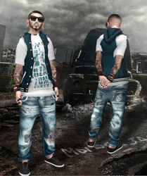3d Model Jeans pant and vest top by Mokazar