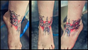 abstract tattoo flower by RemiisMeltingDots