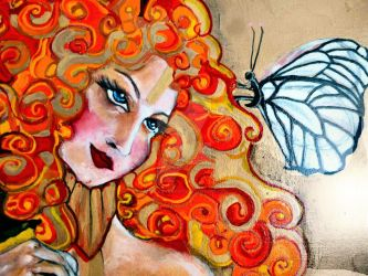 Butterfly in RedHair by Ephie kay Art-ist by EphieKayArtist