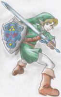 Link - Ocarina of Time/Soul Calibur 2, in color by SteveOdinson