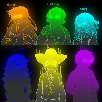 .: Six Deadly Sins :. by Kimmys-Voodoo
