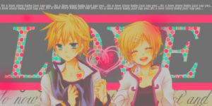 Rin and Len Kagamine by MileyPink26