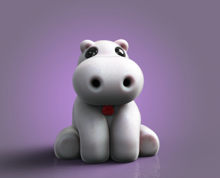 Zbrush Doodle: Day 1244 - Soft Hippo by UnexpectedToy
