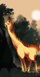 The retarded lovechild of a Giraffe and a Rapidash by Dusclord-005