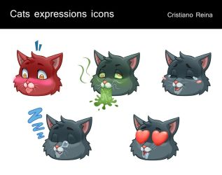 Cats emojis by CristianoReina