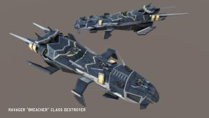 Ravager 'Breacher' Class Destroyer by Helge129