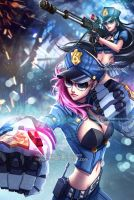 Officer Vi and Caitlyn - League of Legends by nayuki-chan