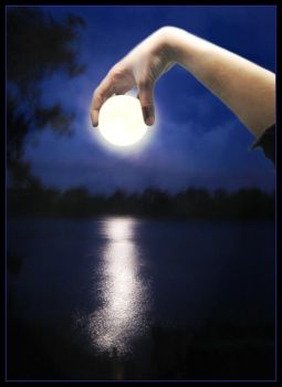 Stealing the moon by Creativeness