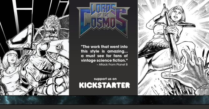 Lords of the Cosmos Issue #2 Kickstarter Ad by Jason-Lenox