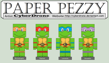 Paper Pezzy - Teenage Mutant Ninja Turtles by CyberDrone