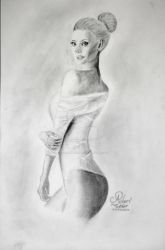 Girl BW | Pencil-Drawing by ALLROUNDERobert