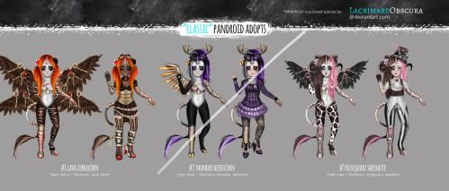 Classic PANDROID adopts - steampunk pack (OPEN) by LacrimareObscura