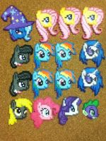 -Perler- My Little Pony Heads :D by OtakuLuka