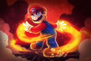 Super Fire Mario by LC-Holy