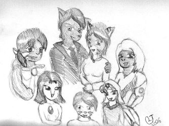 Anthro Family Portrait by CaseyLJones