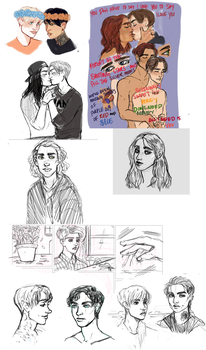 doodle dump from drawpile 01 by Blessed-Doctor