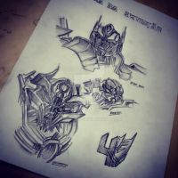 transformers age of the extinction sketch by DSPA360