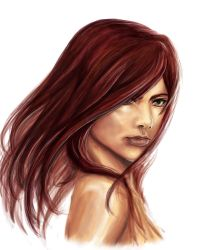 erza face study by darkside07