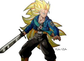 Trunks in SSJ3 Colors (Final) by MikeES