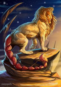 Manticore. Fantastic beasts and where to find them by maryquiZe
