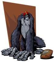 Monkey with Football by abnormalbrain