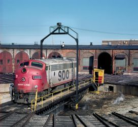 SOO Line 505 at a Roundhouse by ROGUE-RATTLESNAKE