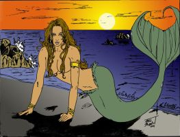 Mermaid on the Beach Flats by MrFixit741