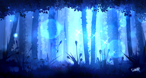 Forest Finger Painting by ChickWithDreads