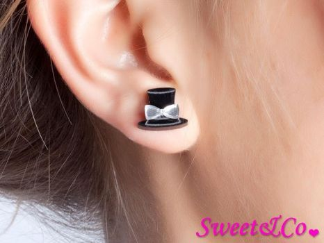 Mirror Hatter Stud Earrings by SweetandCo