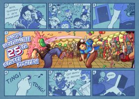Street Fighter 25th Anniversary in Comic by r-chie