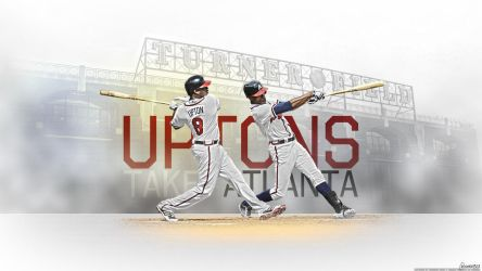 BJ and Justin Upton Wallpaper by OwenB23