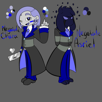 Negatale Chara and Asriel ref by ReneesRetrograde