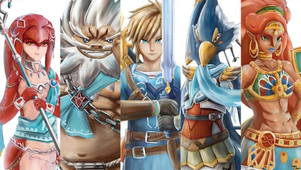 The Champions Of Hyrule by Advent-Hawk