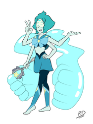 Fan-Fusion: Lapis x Peridot by richdogan